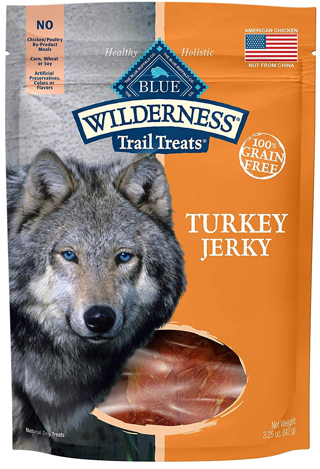 3.25oz Blue Buffalo Wilderness Grain Free Jerky Dog Treats (Turkey)