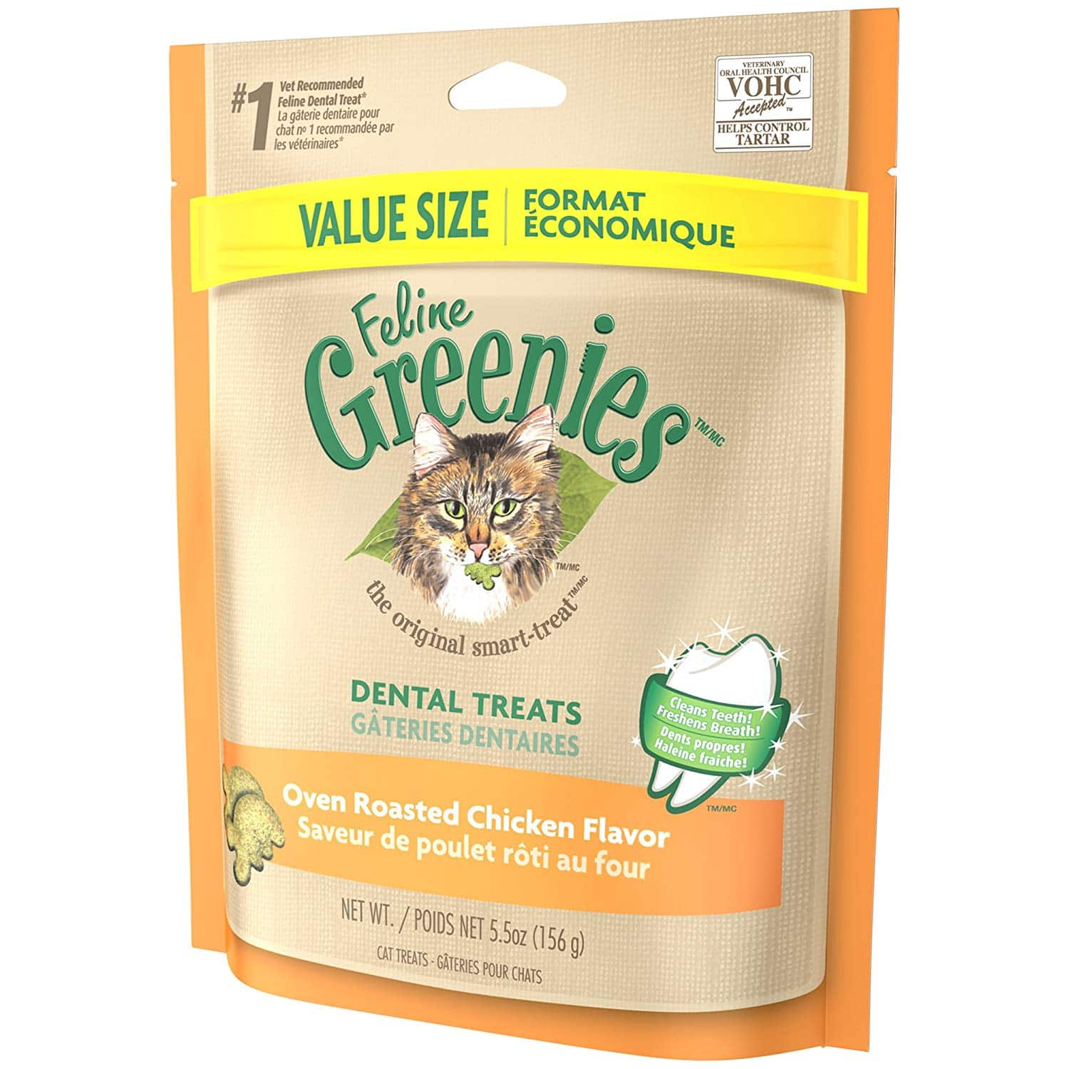 Greenies Feline Natural Dental Care Cat Treats 5.5oz (Chicken) $2.53 with s/s