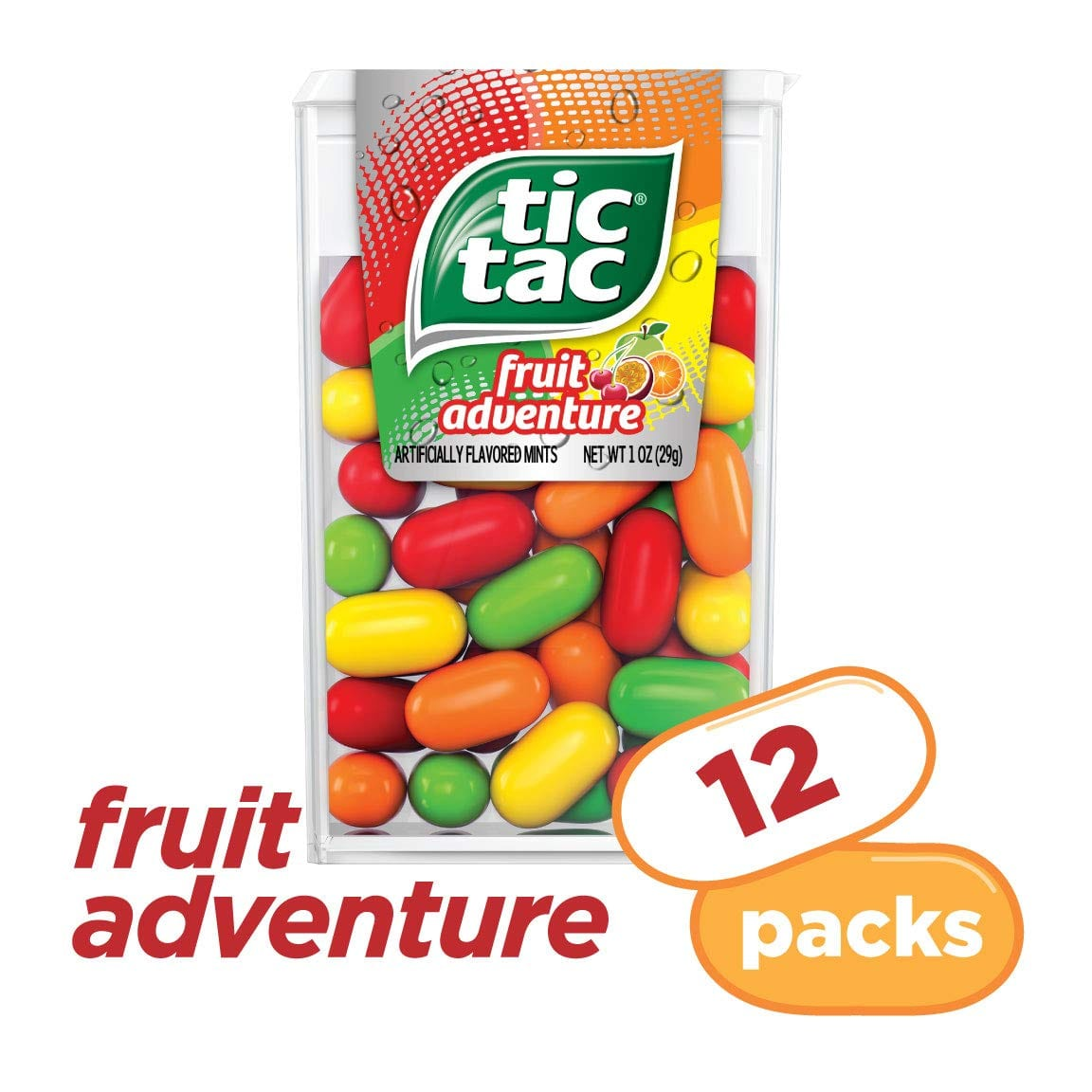 Tic Tac Fresh Breath Mints, Fruit Adventure, 1 oz Singles, 12 Count $5.70 with s/s