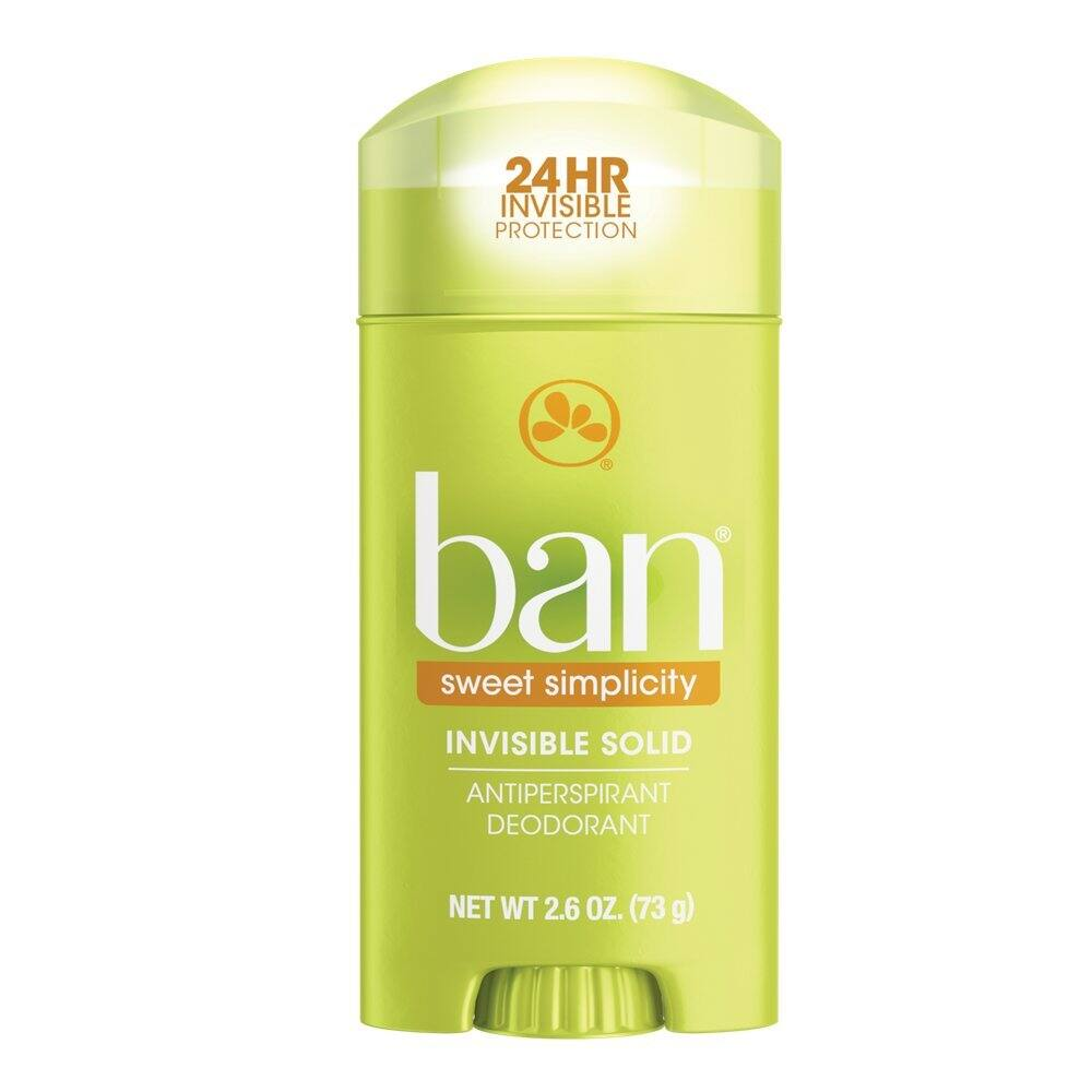Ban Antiperspirant Deodorant, Invisible Solid, Sweet Simplicity, 2.6 Ounce $1.33 with s/s