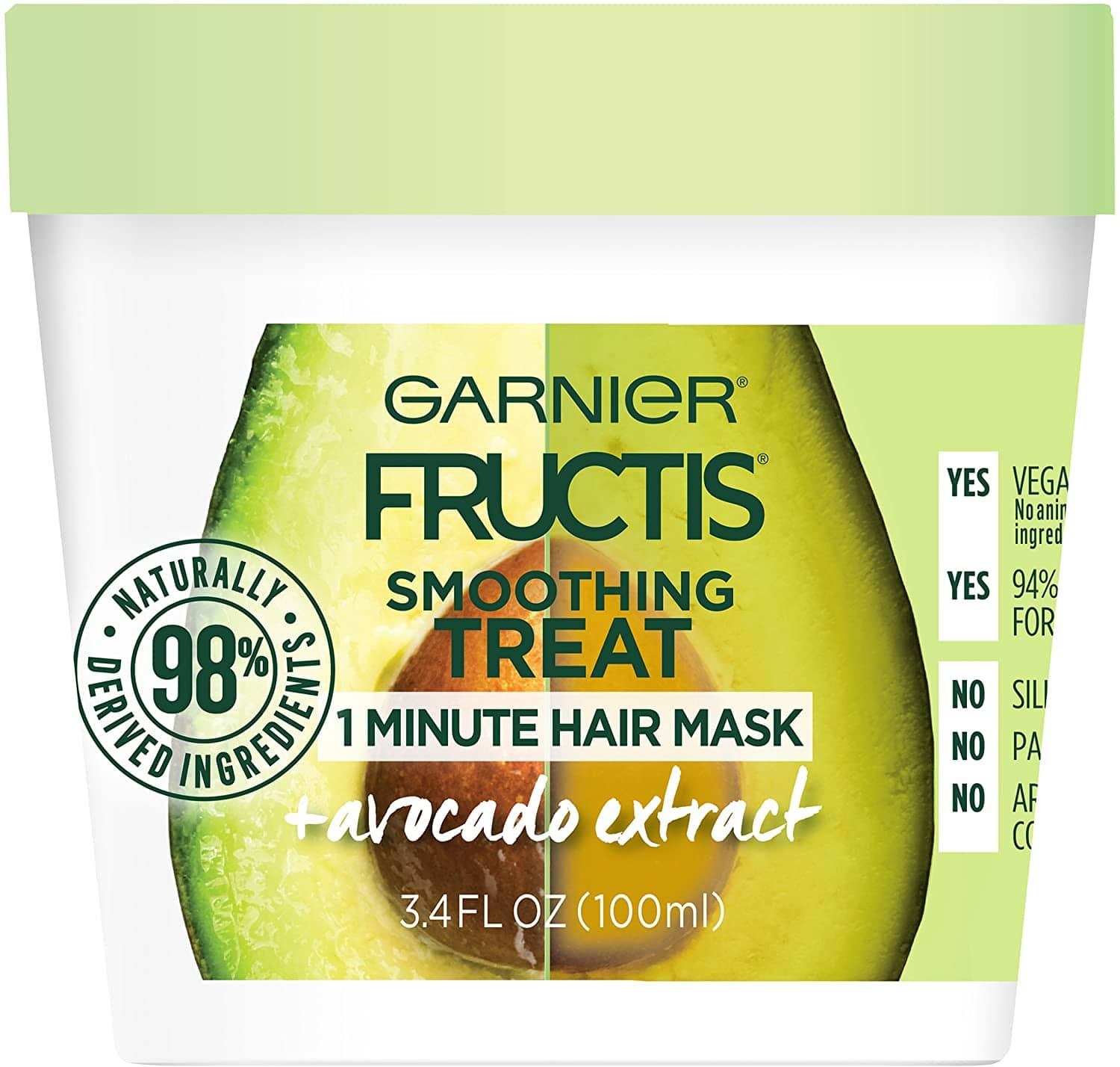 Garnier Fructis Smoothing Treat 1 Minute Hair Mask with Avocado Extract, 3.4 Fl Oz $1.63 with s/s