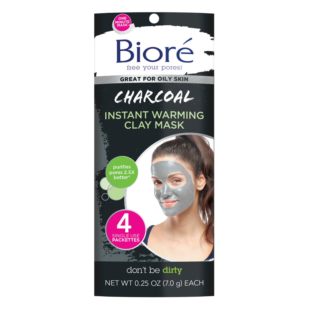 Bioré Charcoal Instant Warming Clay Mask for Oily Skin 4 Count $2.85 with s/s