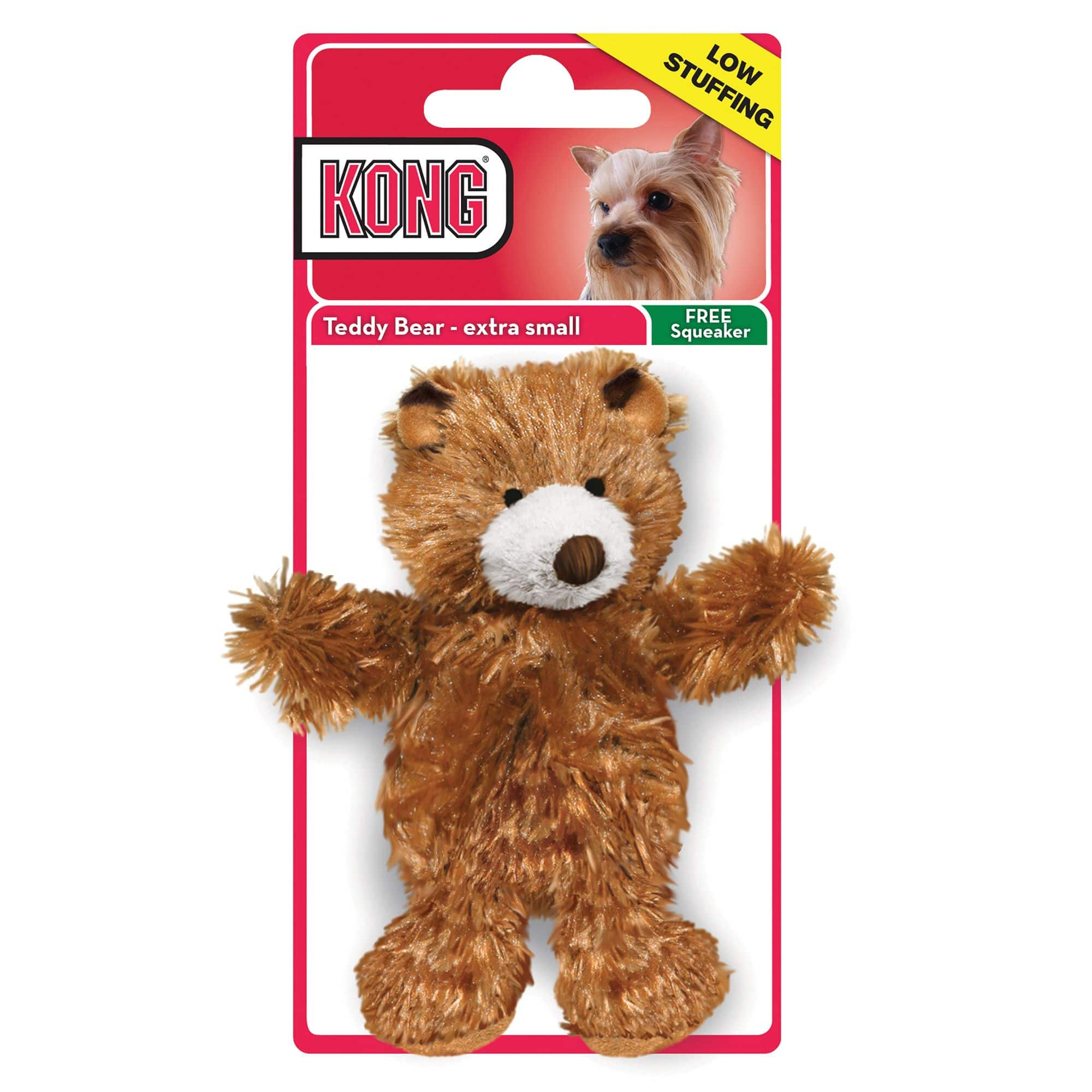 KONG Small Teddy Bear Dog Toy  - Plush, Squeaker $1 ymmv