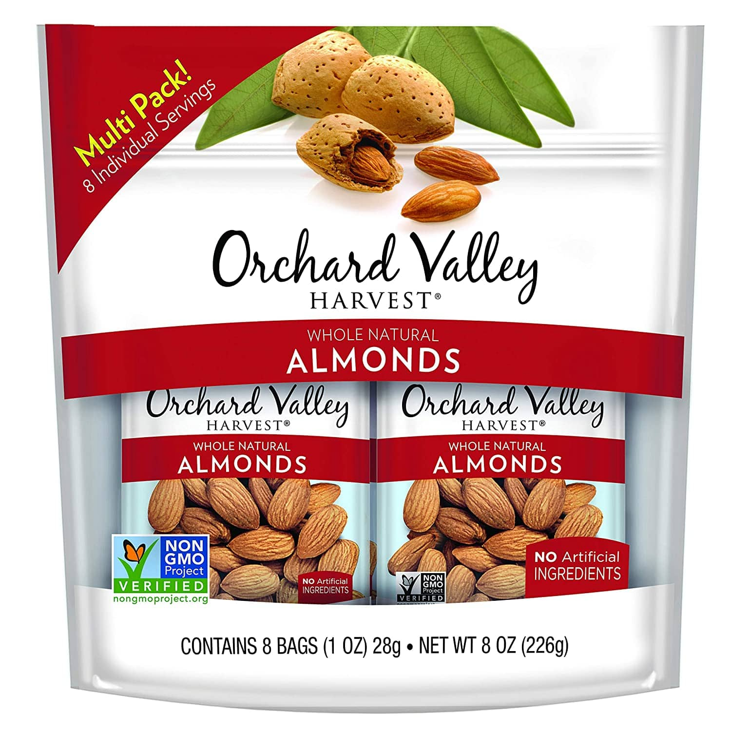 Orchard Valley Harvest Whole Natural Almonds, 1 oz (Pack of 8) $2.82