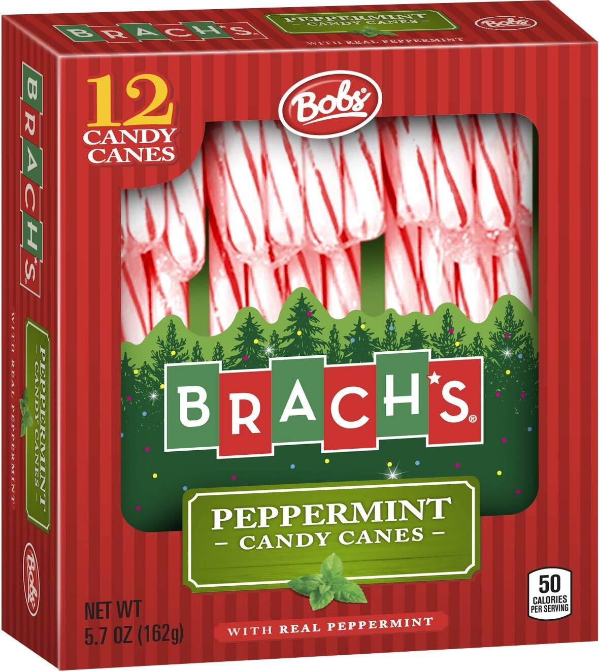 Brach's Red and White Peppermint Candy Canes, 12 ct $1