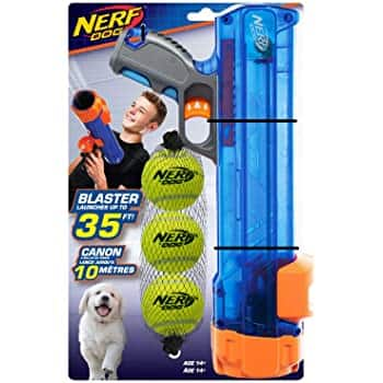 Nerf Dog Tennis Ball Blaster with 3 balls Dog Toy $6.48