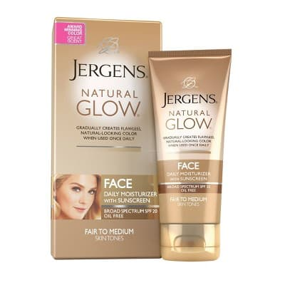 Jergens Natural Glow Oil-free SPF 20 Face Moisturizer Sunscreen (Fair to Medium Tone) 2oz $2.84 with s/s