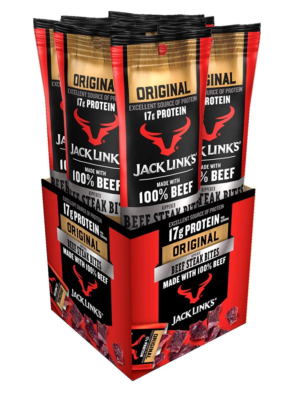 Jack Link's Beef Steak Bites, Original, 1.5 oz Bag, Pack of 8 $7.60 with s/s