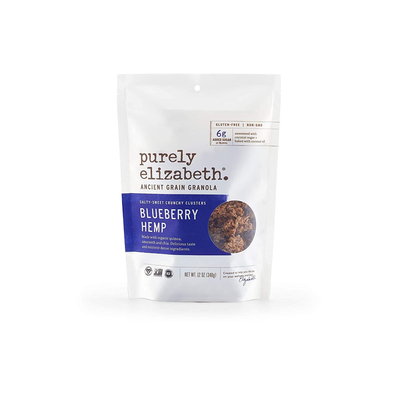 purely elizabeth Ancient Grain Granola Cereal Blueberry Hemp, 12 Ounce $3.33