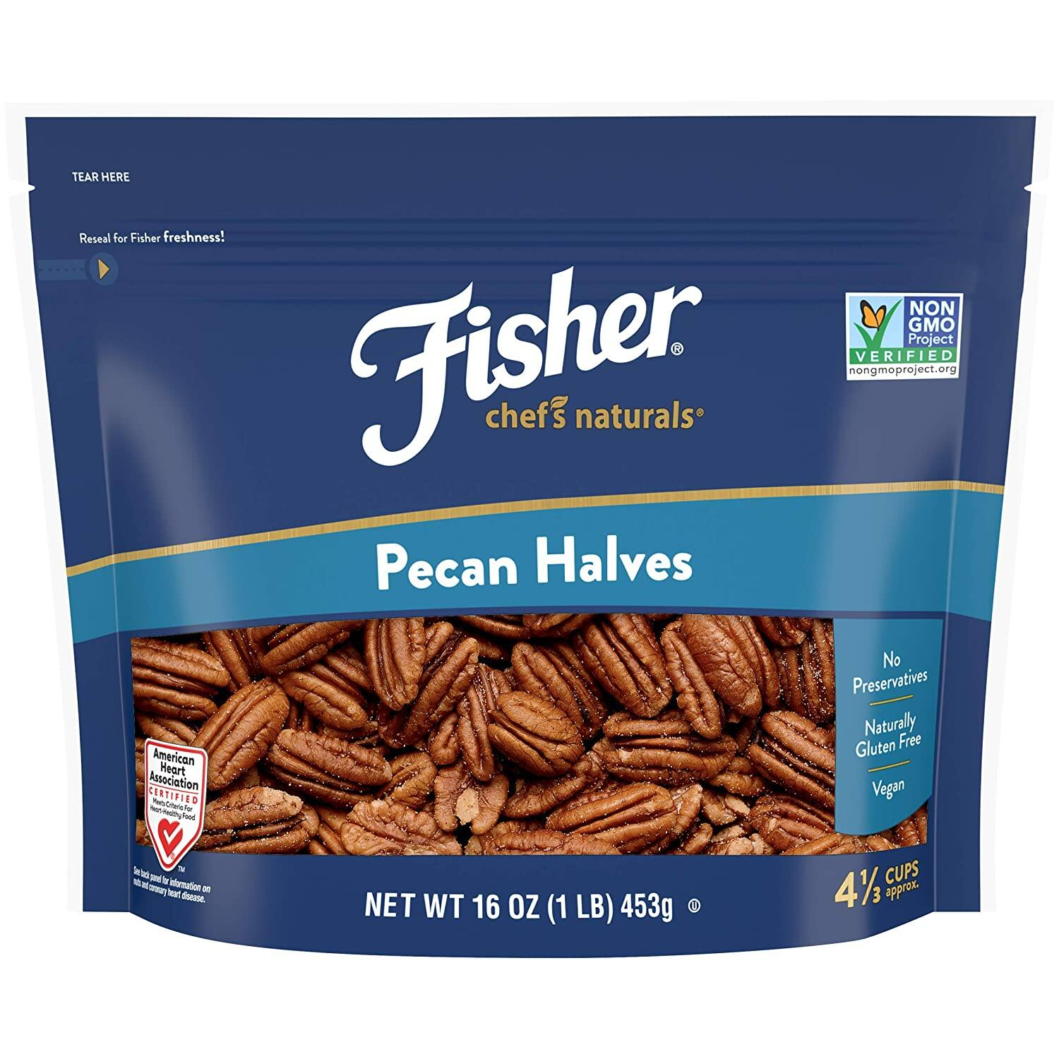 Fisher Chef's Naturals Pecan Halves 1lb $3.52 with s/s