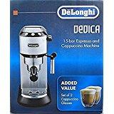 Delonghi Dedica espresso machine - with 2 glasses - EC680BMC (older model; MSRP $299) $165.86