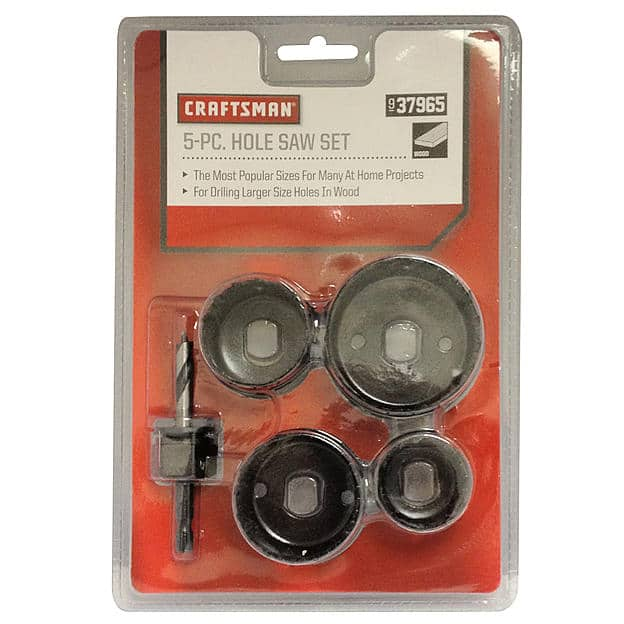 Craftsman 5 pc Hole Saw Set $5.39