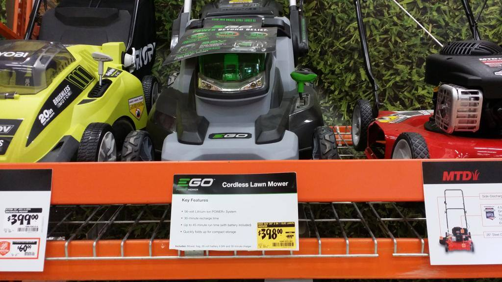 EGO 56V Cordless Electric Lawn Mower B&M YMMV 398.00 (Reg 499.99)
