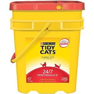 Tidy Cats 24/7 clumping cat litter, 27lb pail. 9.99 shipped