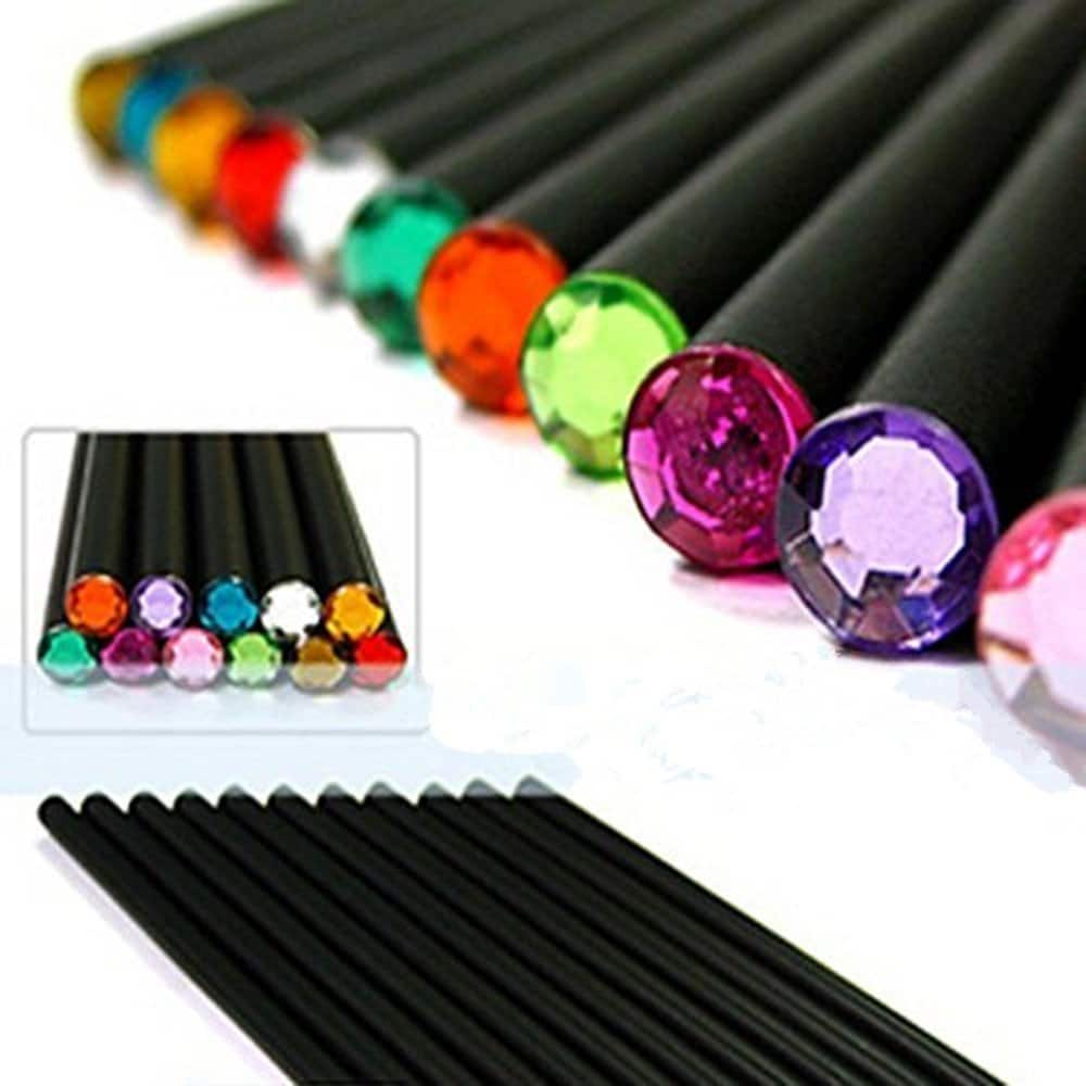 MZD8391 Drawing Pencils/Art Pencils/Sketch Pencils Set, Black Wood-Cased, Beautiful Shining Crystal Tips, #2 HB (12 Count) $4.89 After Code