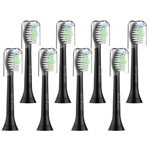 Sonifresh Toothbrush Replacement Heads8 Pack Black for $7.98