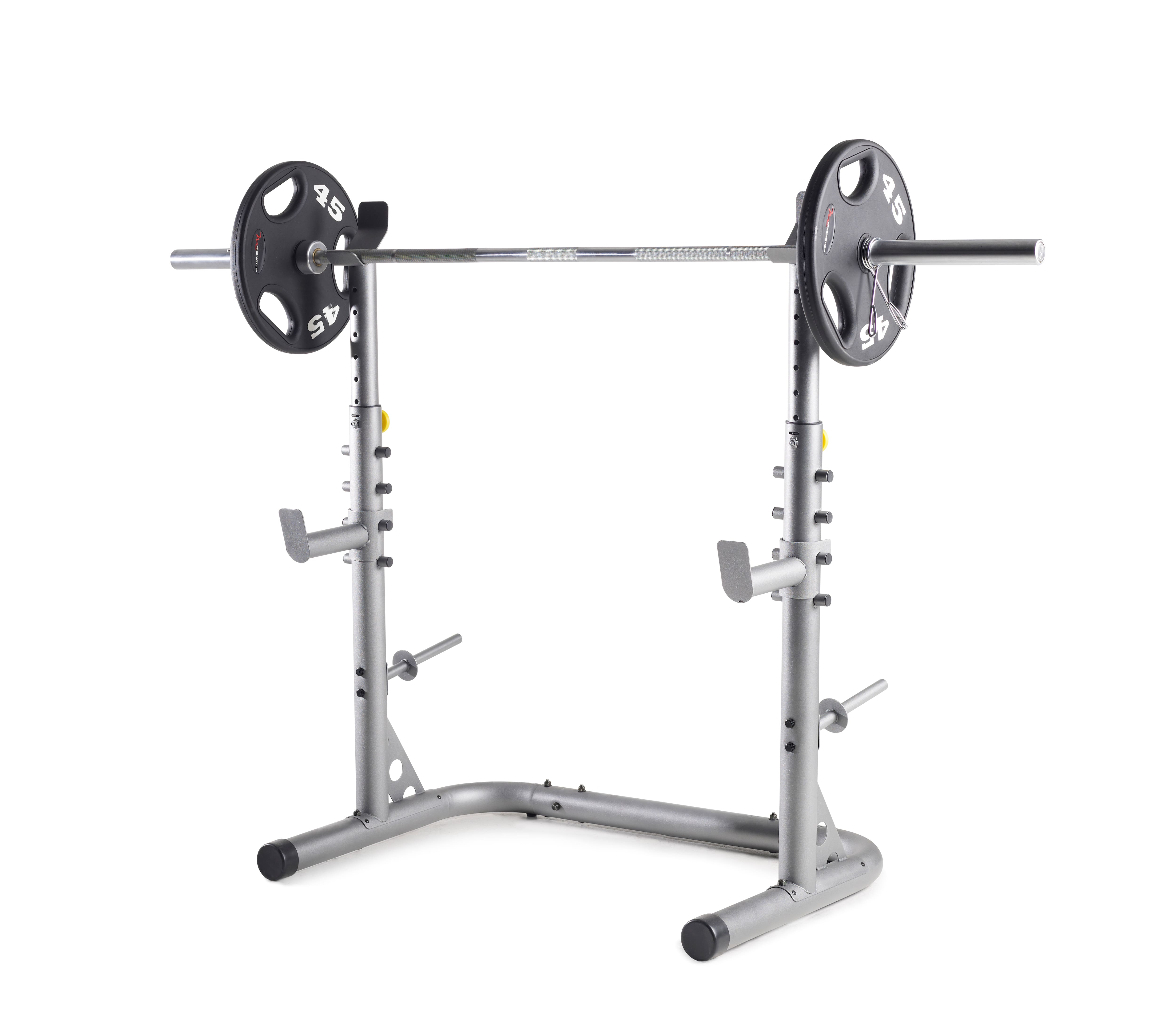 Weider Xrs 20 Olympic Squat Rack With Adjustable Safety Spotters And Bar Holds 97 Slickdeals Net