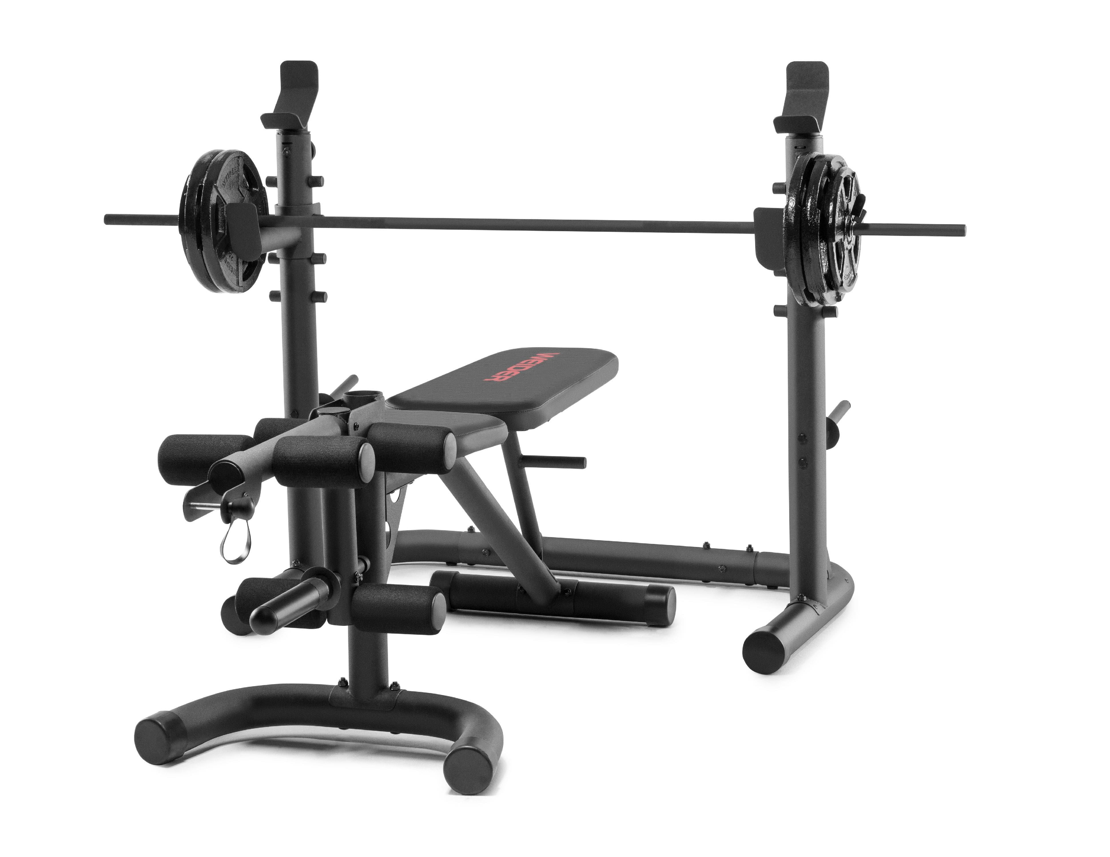 Weider XRS 20 Olympic Workout Bench with Independent Squat Rack and Preacher Pad $199.99