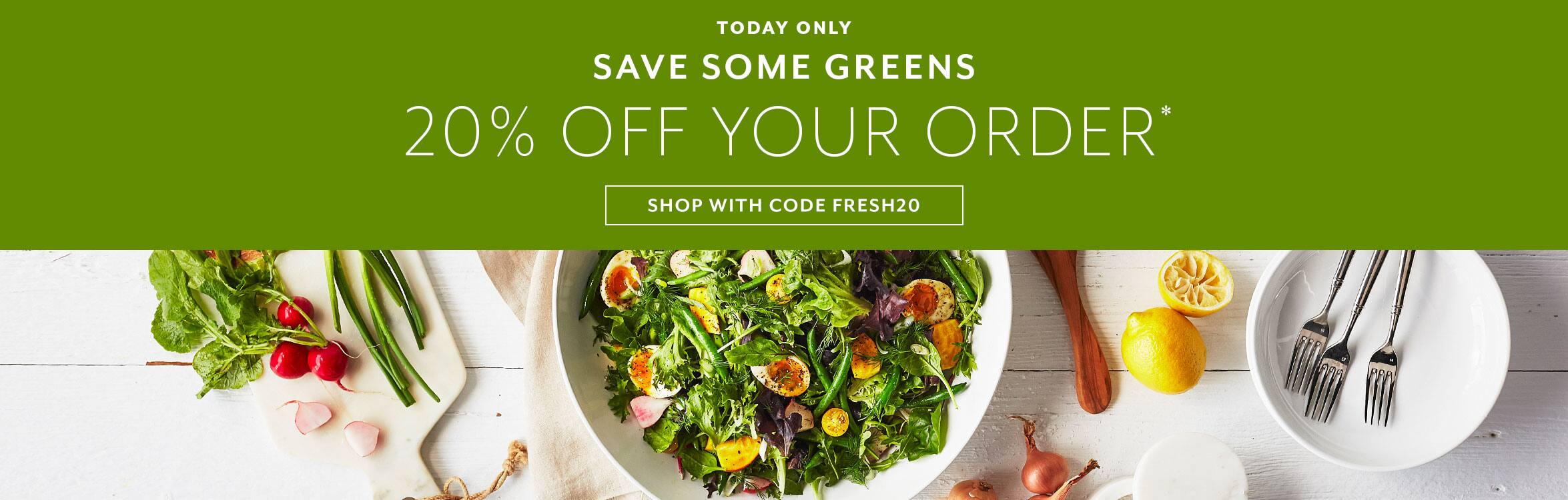 20% off Order at Sur La Table with FRESH20 - 2/18/20