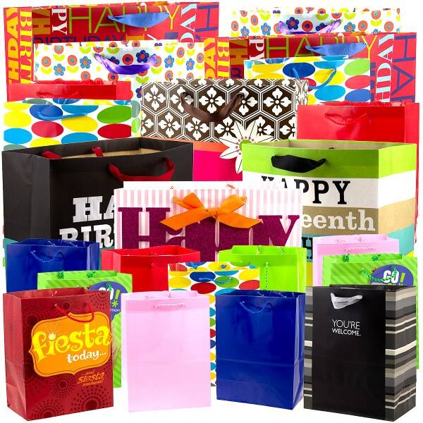 24pk Hallmark Gift Bags Variety Pack For All Occasions $19.99 with F/S