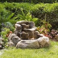 Lowes Water Fountain 75% Clearance: Two-Tier Rock Fountain $50 ...