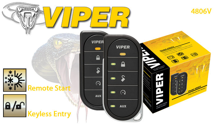 Viper 4806V 2-Way Remote Start & Bypass Module & Geek Squad Installation - $239