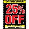 Harbor Freight Tools 4th of July Sale 3 days only 25% off ANY Single Item Coupon