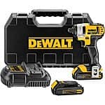 "DEWALT 20V MAX Li-Ion 1/4"" Impact Driver Kit DCF885C2 Refurb – $110 + FS on eBay"