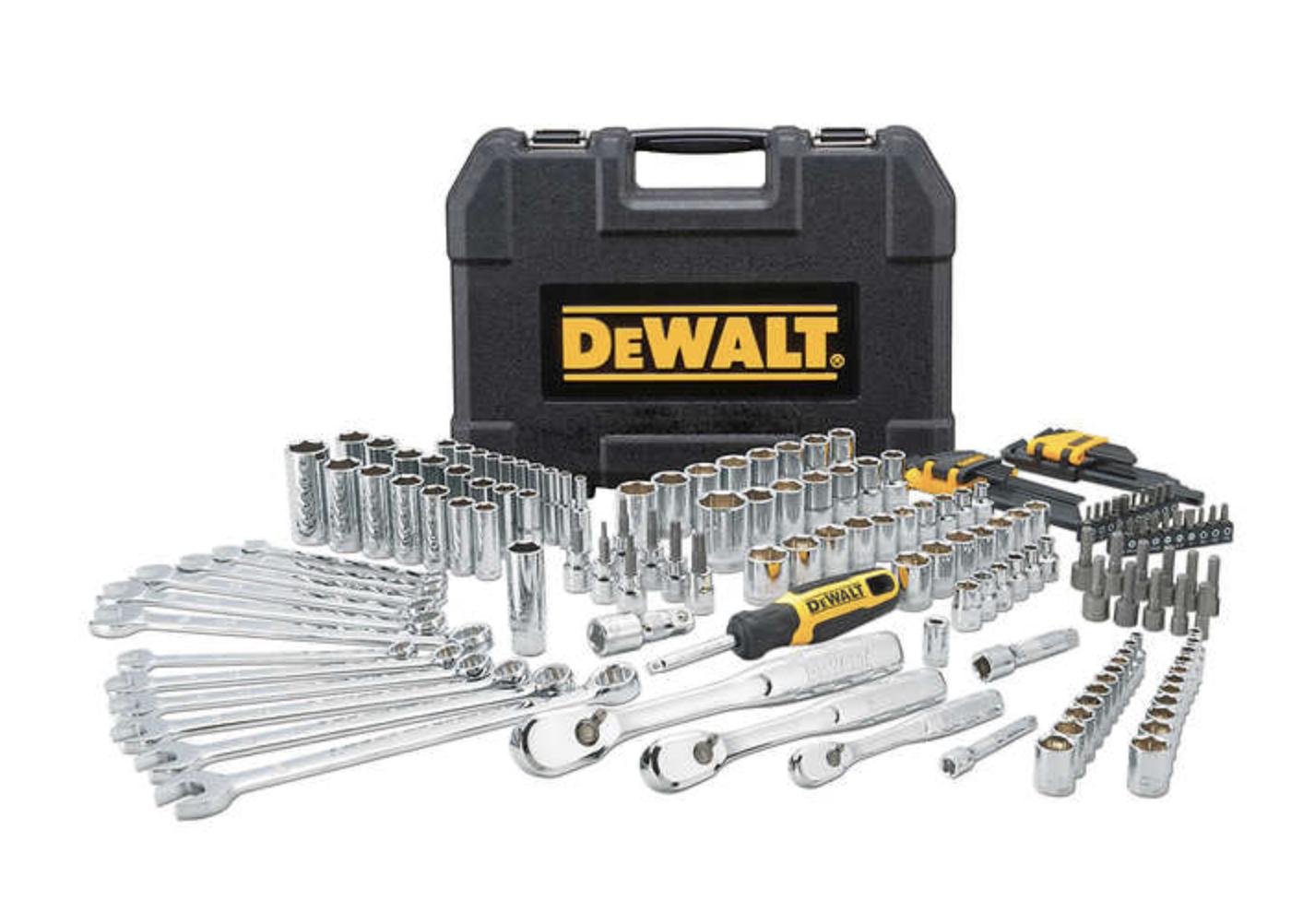 DEWALT 173-piece Polished Chrome Tool Set - $80 at Costco w/ Free ship $79.99