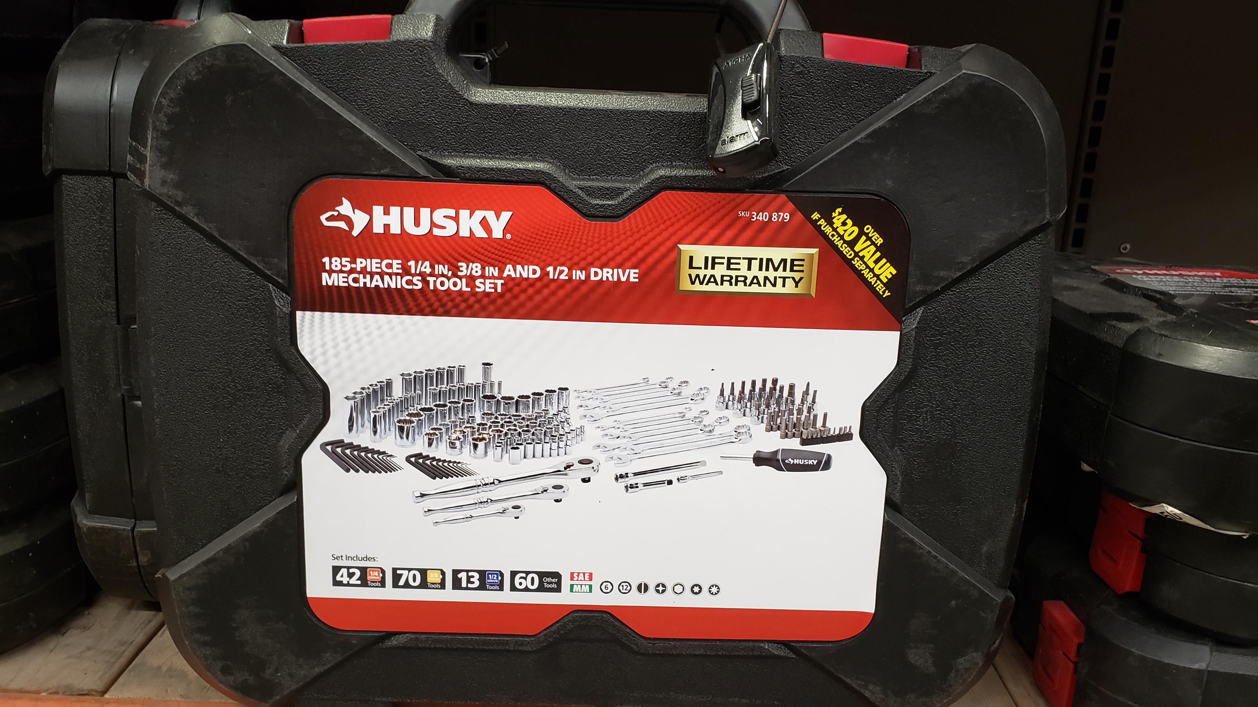 Home Depot Husky Mechanics Tool Set 185 Piece For 79 00 In