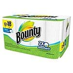 Bounty Select-A-Size White Paper Towels 12 Giant Rolls-$11.99 target via ebay