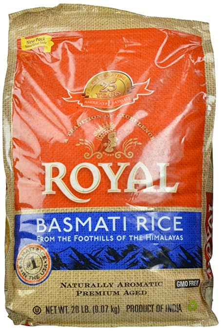 Royal basmati Rice -20lbs -amazon prime -$14.99 - lowest price