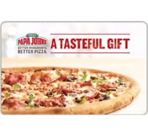 Buy a $25 Papa John's Gift Card for only $20 - Fast Email delivery