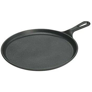 Lodge L9OG3 Cast Iron Round Griddle, Pre-Seasoned, 10.5-inch-$11 - amazon free prime shipping