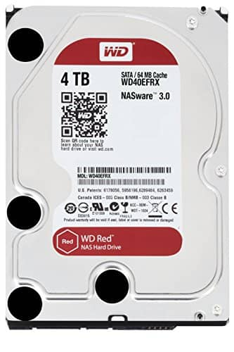Western Digital  4 TB WD Red, 3.5 inch, SATA III NAS Hard Drive, 124.99+tax with VISA Checkout + free shipping , YMMV *after Price Match*