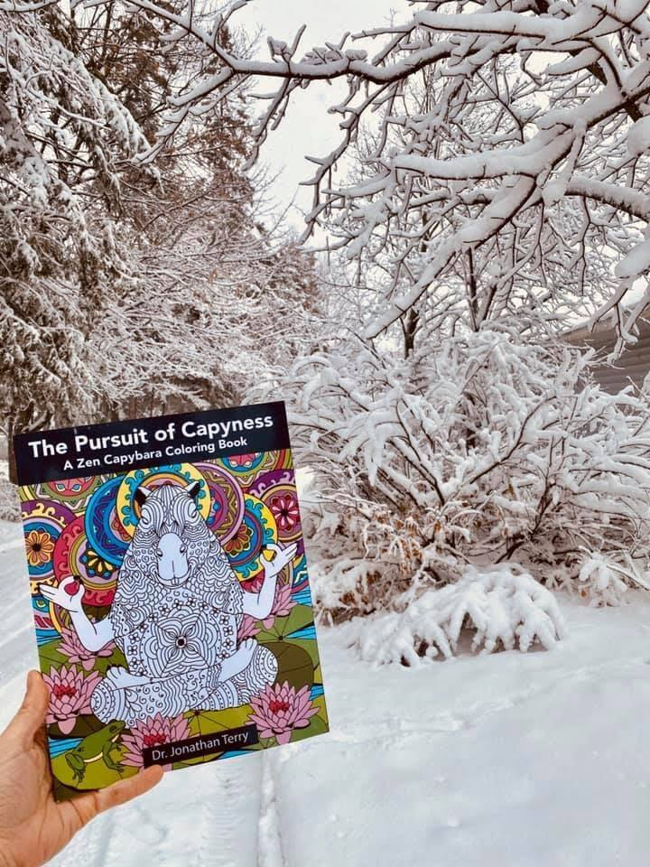 The Pursuit of Capyness - Capybara Coloring Book - 103 pages - For ages 5-105 - $6.34 (normally $12.99)