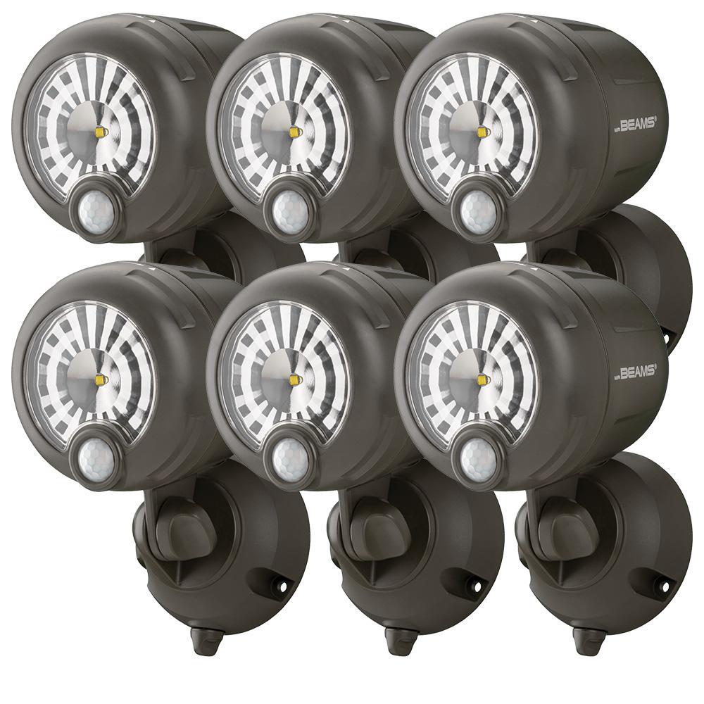 Home Depot- 6pk Mr Beams Wireless Outdoor Security Light- Bronze finish $53.99