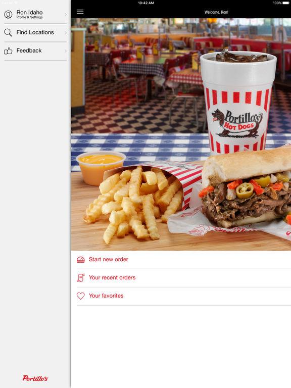 Portillo's $5 off $15 online order with new Portillo's app