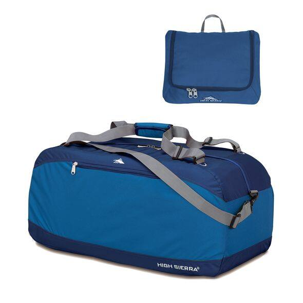 "High Sierra Pack-N-Go 30"" Duffel Bag (Blue) - $4, 36"" - $8"