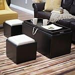 Hayneedle: Garrett Double Storage Ottoman w/ Tray and Side Ottomans - $52 Plus Free Shipping