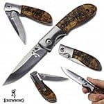 Field Supply: Browning Buckmark Burlwood Compact Folder Knife - $11 Shipped