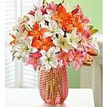 Florists.com: Summer Lily Love Bouquet (25 blooms w/ Clear Vase) - $40 Shipped