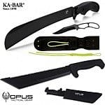 Field Supply: 3-Knife Ka-Bar and Opus Bundle Set - $49 Shipped