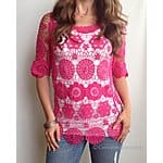 Grace and Lace: Crochet Lace Tunic - $19 Plus Free Shipping on $50+