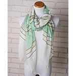 Cents of Style: Metallic Striped Scarf (various colors) - $5 Plus Free Shipping