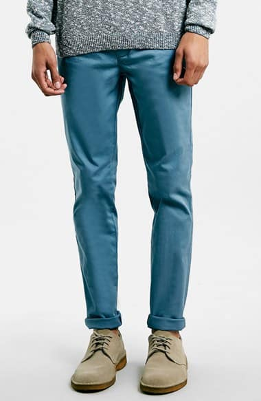 Nordstrom: Topman Skinny Fit Chinos (Blue and Grey) - $30 Plus Free Shipping