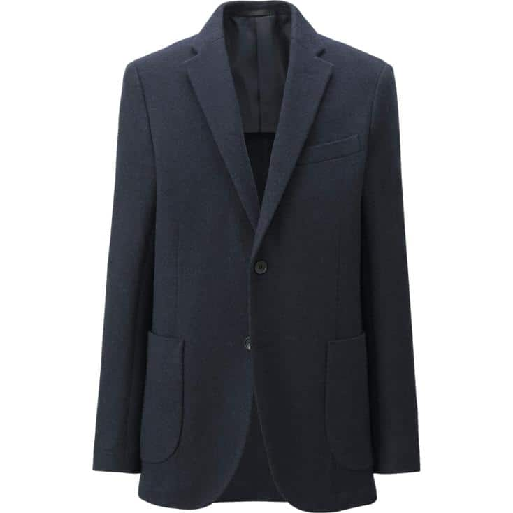 UNIQLO: Men's Wool Blended Sports Coat - $49.90 Plus Free Shipping on $50+