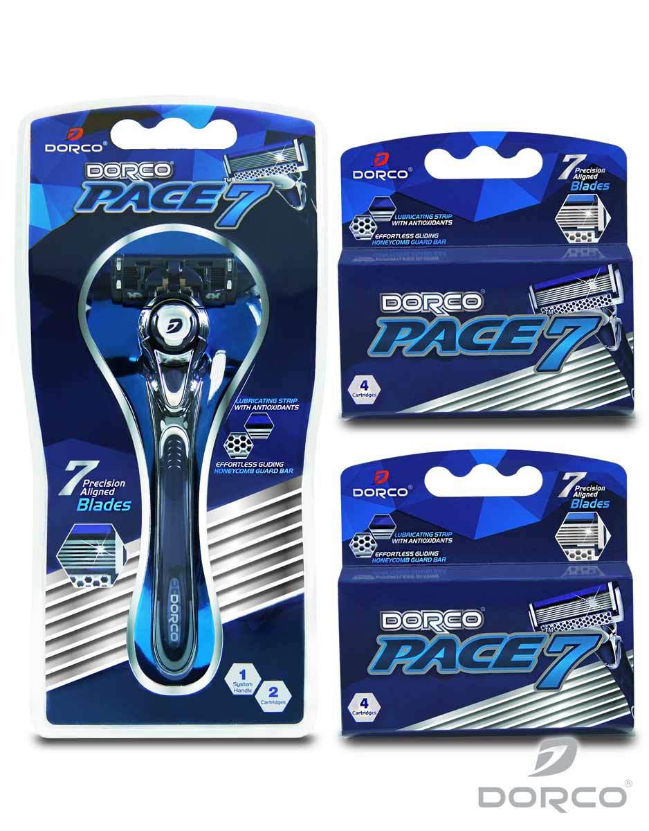 Dorco USA: Pace 7 Razor Combo Set (10 Cartridges) - $16.16 Plus Free Shipping