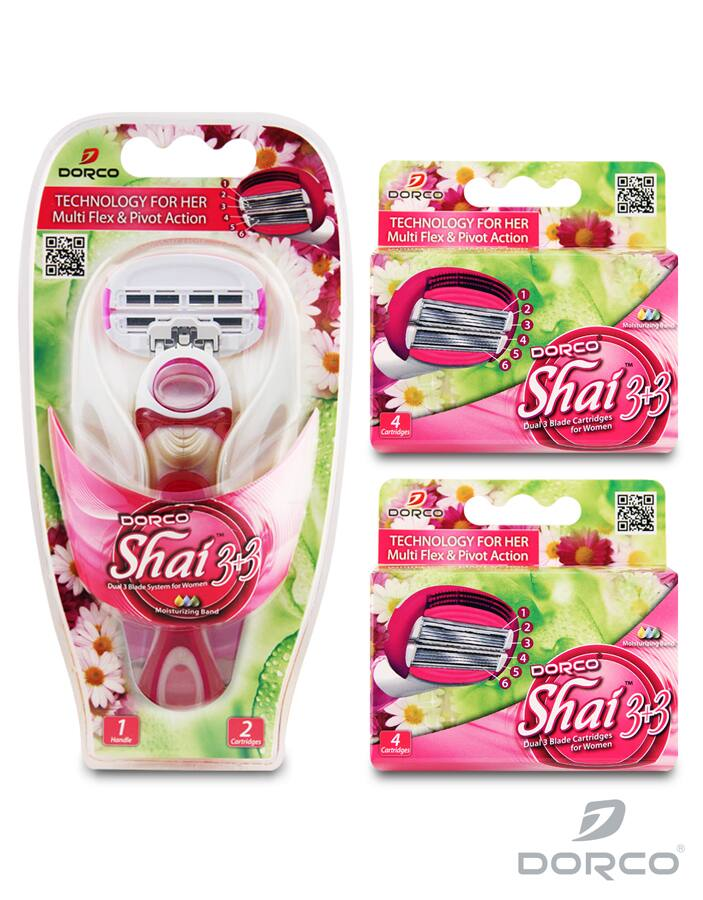 Dorco USA: Women's Shai Soft Touch Razors Combo Set - $10.22 Plus Free Shipping