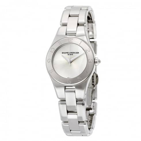 Jomashop: Baume and Mercier Women's Linea Silver Dial Ladies Watch - $499 Plus Free Shipping